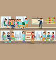 colorful coaching horizontal banners vector image vector image