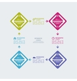 Colorful plastic buttons for infographic vector image vector image