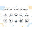 content management trendy infographic template vector image