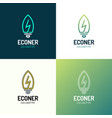 eco leaves bulb power energy logo icon design vector image vector image