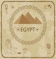 Egypt pyramids hieroglyphs vector image