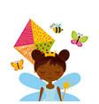 fairy girl icon vector image