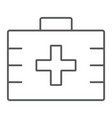 first aid kit thin line icon health and clinical vector image vector image