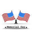 flag usa memorial day vector image vector image