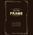 frame cover design template vector image vector image