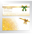 gold glitter gift voucher certificate coupon for vector image vector image