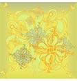Golden Rose hand-drawn flower floral ornament vector image vector image