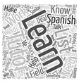 How to Learn Spanish with a Tutor Word Cloud vector image vector image