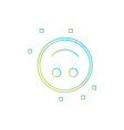 inverted smile emoji icon vector image vector image