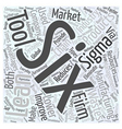 Lean manufacturing six sigma Word Cloud Concept vector image