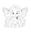 magical fairy Coloring page vector image vector image