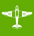 military fighter plane icon green vector image vector image