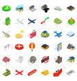 military science icons set isometric style vector image vector image