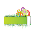 paper with green sheep vector image vector image