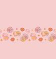pink blooming desert cactus seamless repeat vector image