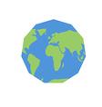 Polygonal world map Unusual earth Atlas of world vector image vector image