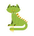 prehistoric cat dinosaur dino is sabre-toothed vector image vector image