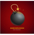 realistic detailed 3d bomb explosion concept ad vector image vector image