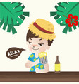 relax with beer vector image vector image