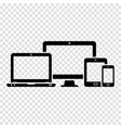 responsive web design icons computer monitor vector image vector image
