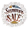 sale banner for promotion summer poster vector image