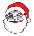 Santa head1 resize vector image