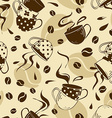 Seamless pattern of coffee cups vector image