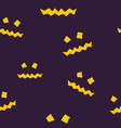 seamless pattern of terrible scary halloween face vector image vector image