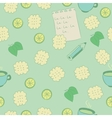 Seamless pattern with cookies lime mint and tea vector image vector image