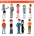 Set of modern people men and women vector image vector image