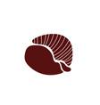 shell sea life animal isolated icon vector image vector image