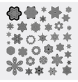Snowflakes Abstract Design Elements Optical Art vector image vector image