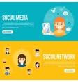 Social media network website templates vector image vector image