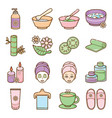 spa and beauty icon set vector image
