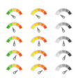 speed metering icon sets vector image vector image