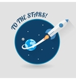 Start Up Concept Space Rocket Modern Flat Design vector image vector image