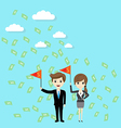 success and goal business finance concept vector image vector image