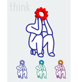 The thinker business and education concept vector image