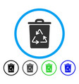 trash can rounded icon vector image vector image
