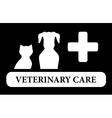 veterinary care icon with animal silhouette vector image