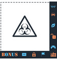 virus icon flat vector image vector image