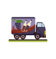 wine delivery service truck on vector image vector image