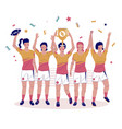 women rugby championship flat style design vector image