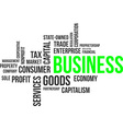 word cloud business vector image vector image
