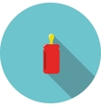 icon Red bottle for feeding vector image