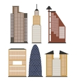 set of skyscrapers for infographics vector image