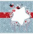Winter gray card vector image