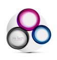 circle web layout - digital techno spheres - web vector image