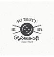 Old Tailors Workshop Vintage Sewing or Clothing vector image