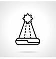 Santa hat black line icon vector image